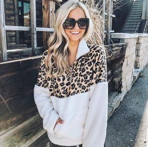 Sweaters - LAST Leopard softest fuzzy sweater - WHITE/ BROWN